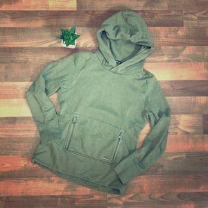 Olive Green Oakley hoodie w/ zip pockets - Size S